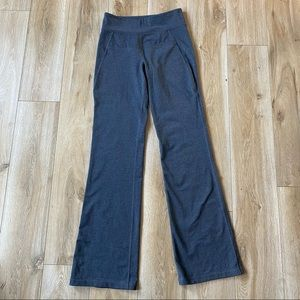 Roots High Waisted Wide Leg Pants Charcoal Grey Size XS